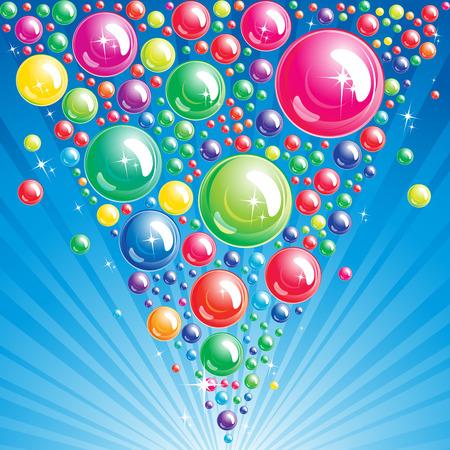 splashing: Bubble background