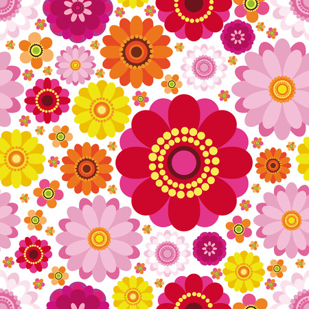 Easter floral background - an illustration for your design project. Vector