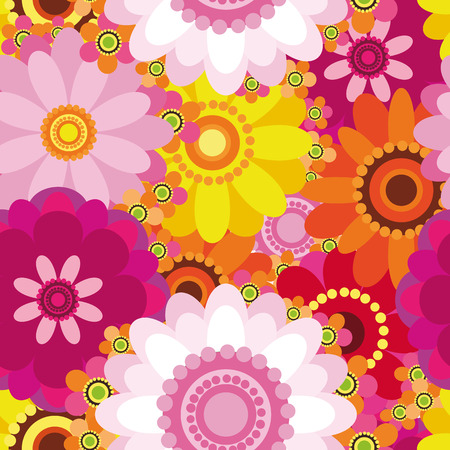 Easter floral background - an illustration for your design project.