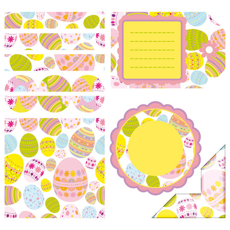 Easter set of design elements - an illustration for your design project. Vector