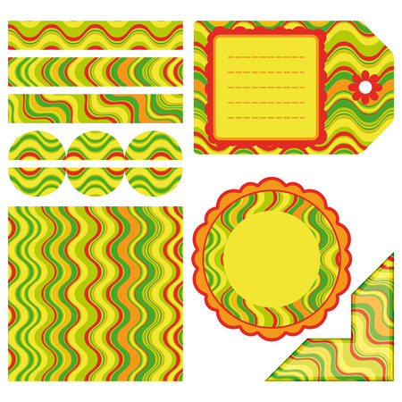 Easter set of stripe design elements - an illustration for your design project. Vector