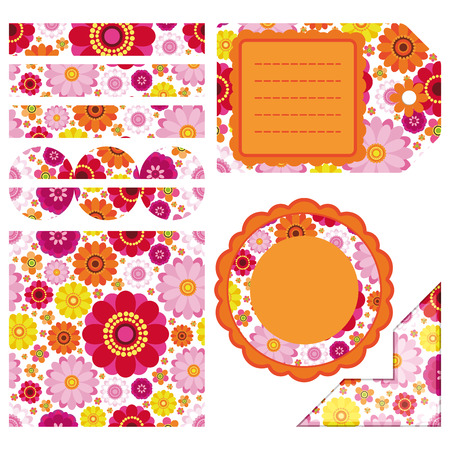 Easter set of design elements - an illustration for your design project. Stock Vector - 6658085