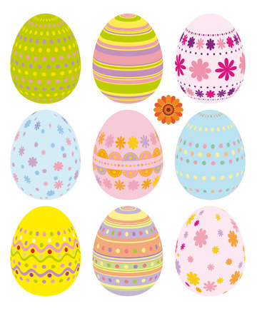 Set of Easter eggs - an illustration for your design project.