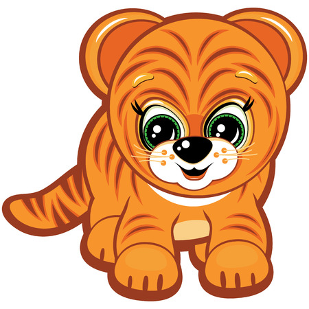 Little Tiger - one of the symbols of the Chinese horoscope Vector