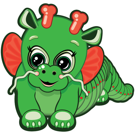 Little Dragon - one of the symbols of the Chinese horoscope Vector