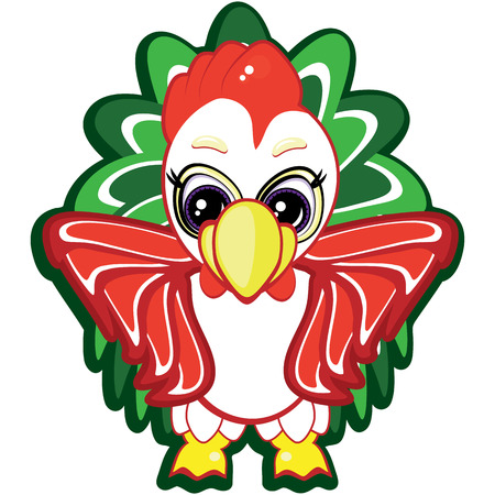 Little rooster - one of the symbols of the Chinese horoscope Vector