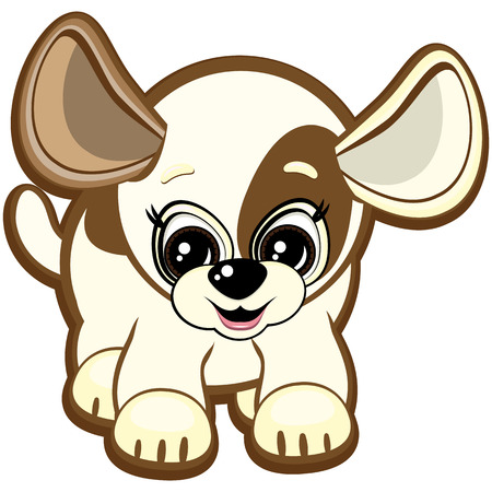 Little dog - one of the symbols of the Chinese horoscope Vector