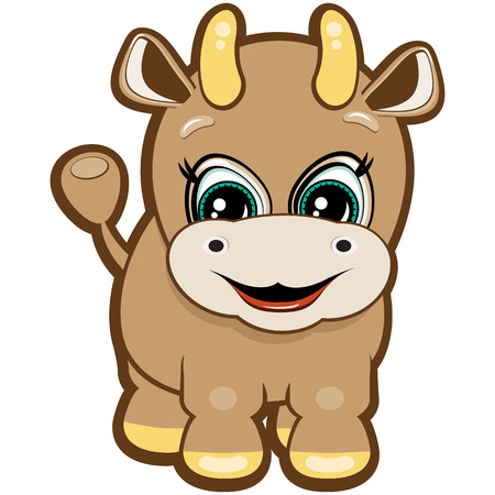 Little bull - one of the symbols of the Chinese horoscope Stock Vector - 6746349