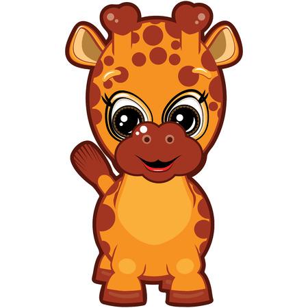 Little Giraffe Vector