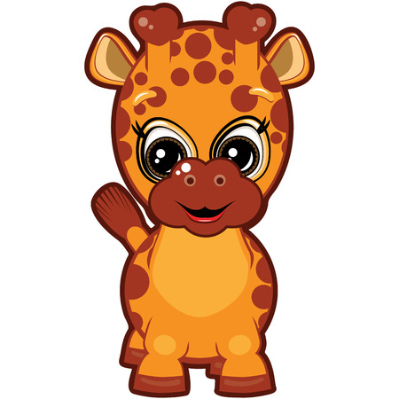 Little Giraffe Vector