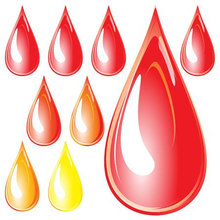 Drops of nail polish Stock Vector - 6830476