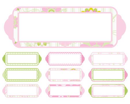 Set of Plaque  Vector