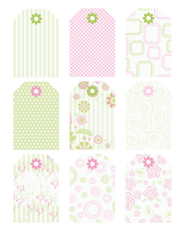 a pink cell: Set of tags