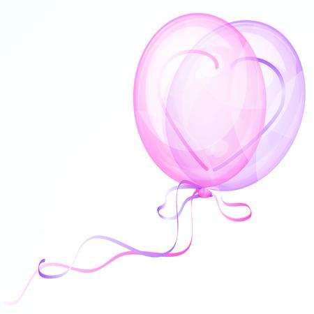 cardioid: Globos de coraz�n brillantes - ilustraci�n para su dise�o.