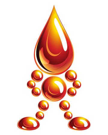 Hombre de aceite, icono, Eps10. Ilustración para su diseño.  Foto de archivo - 6924583