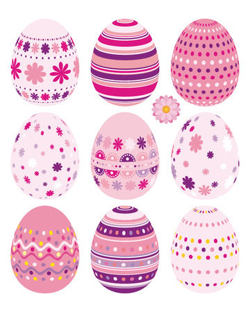 Set of Easter eggs - an illustration for your design project. Vector