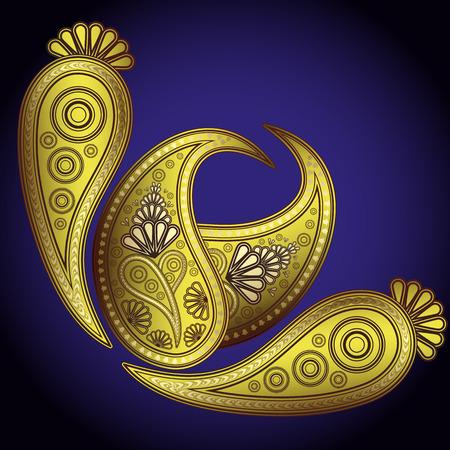 Kashmir henna design fashion. - Illustration for your design Stock Vector - 7000805