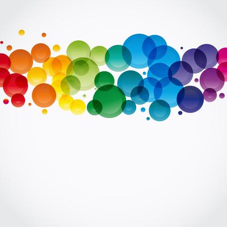 Fondo multicolor abstracta. Vector. Ilustración para su diseño.  Ilustración de vector