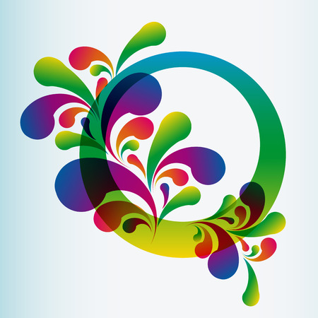 Abstract floral background - Illustration for your design Vector