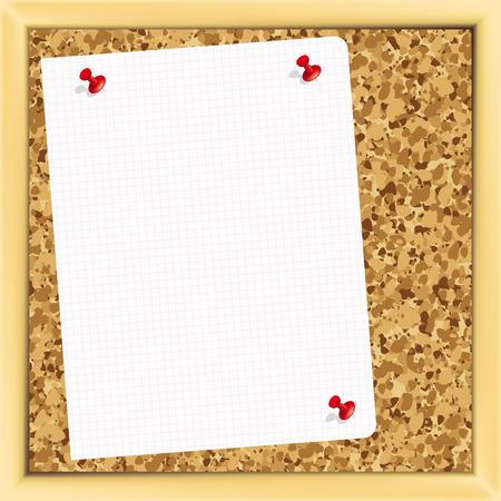cork board - Illustration for your design Stock Vector - 7061589