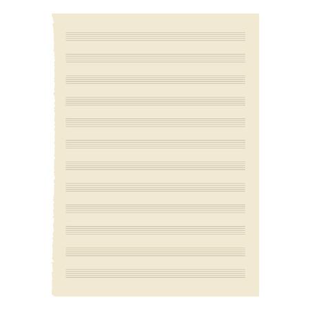 sheet music - Illustration for your design Vector