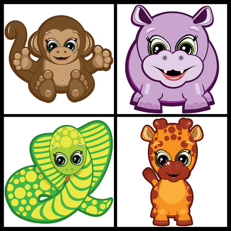 Set of Little Animals � Tropical Vector