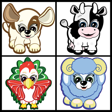 Set of Little Animals – Farm Vector