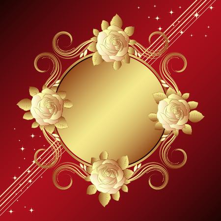 Old-styled roses,  illustration - Illustration for your design Vector