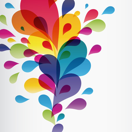 Colorful background with drops, Illustration for your design