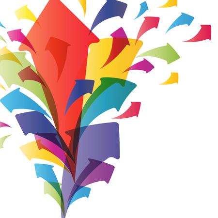 flecha azul: Fondo con splash de flechas. Ilustraci�n para el dise�o