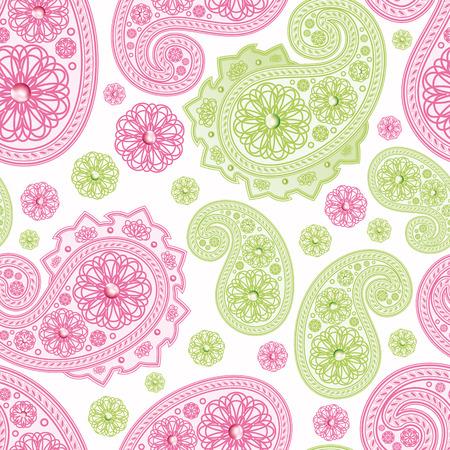 stylize: Naadloze achtergrond met paisleys.Illustration voor uw ontwerp