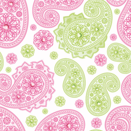 Seamless Background with paisleys.Illustration for your design Vector