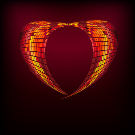 the heart  full color abstract background eps10. Illustration for your design. Vector