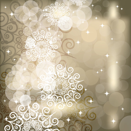 EPS Abstract snowflake  background of holiday lights Stock Vector - 7143104