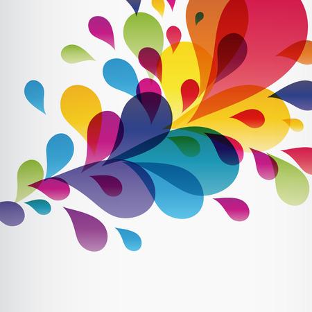 craft background: Eps10 Colorful splash Illustration