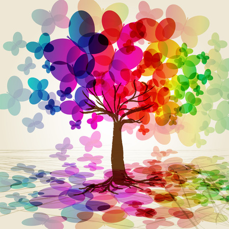 Abstract colorful Tree. Stock Vector - 7166258