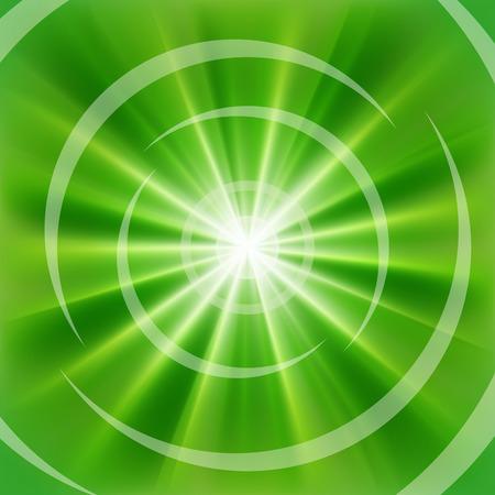 irradiate: Verde brillante de rayos