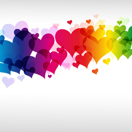 colorful heart background Illustration for your design. Vector
