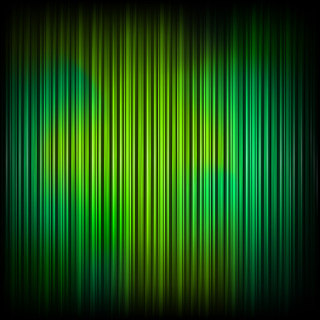 Green curtain. Illustration for your design. Vector