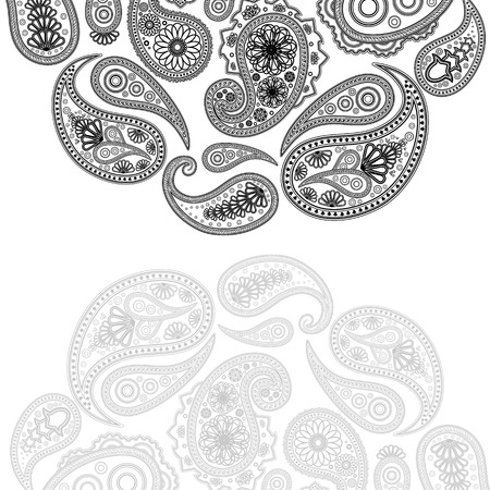 paisley design. Illustration for your design.