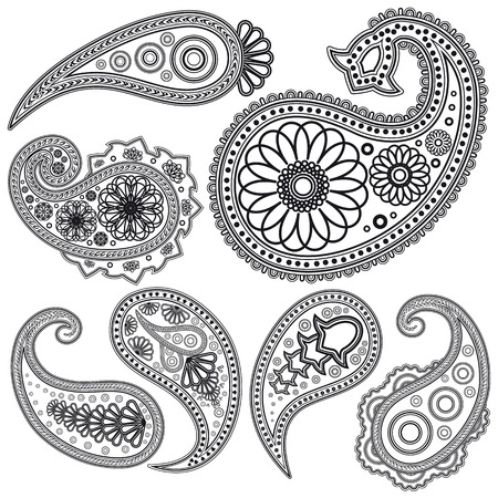 Eps Vintage Paisley  patterns for design. Illustration for your design. Stock Vector - 7237259