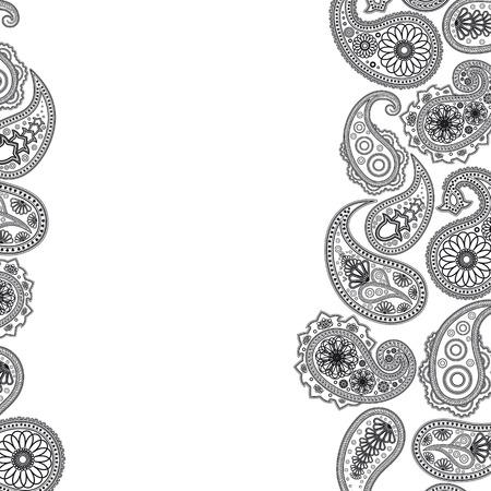 motif cachemire: Surface de Paisley. R�sum� arri�re-plan illustration de votre conception.