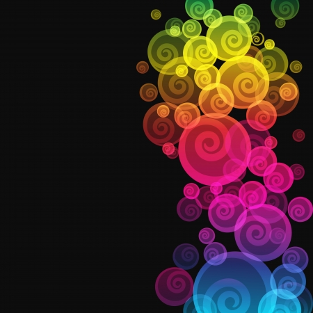 Abstract colorful background. Illustration for your design.  Vector