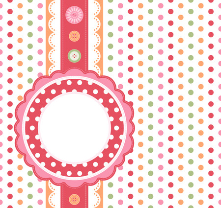 Polka dot design frame  Stock Vector - 7449454