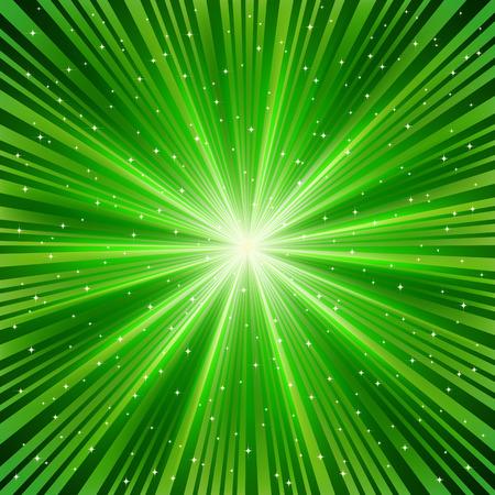light burst: gr�ne Strahl eines Sterns