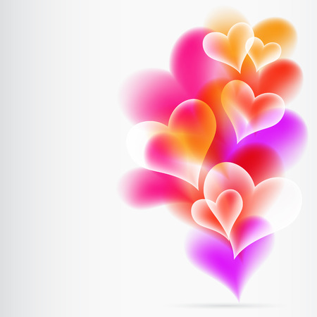 corporate image: Abstract Colorful Background from hearts Illustration