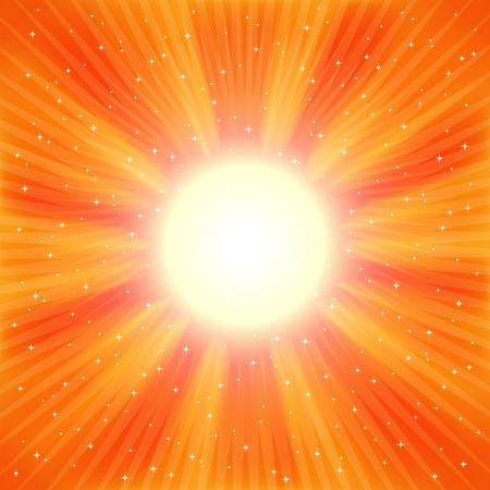 Bright Orange rays Stock Vector - 7466727