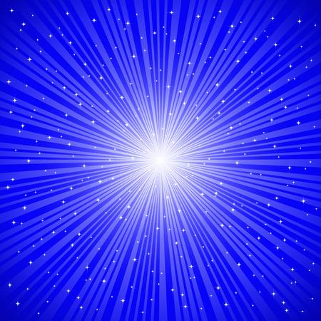 flares: Blue rays  Illustration