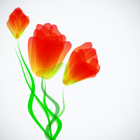 Abstract trendy background with tulips Vector