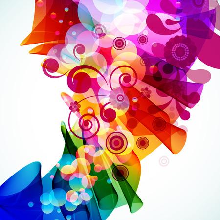 Abstracta fondo floral multicolor. Vector.